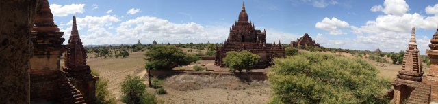 Panoramic view of the temples