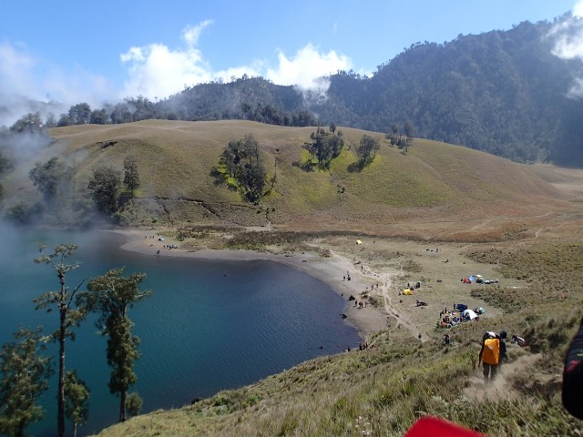View of Ranu Kumbolo from atop