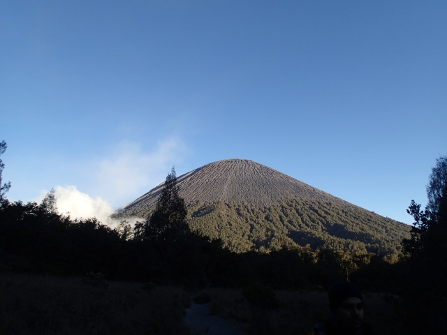 View of Mt. Semeru fr worms' view