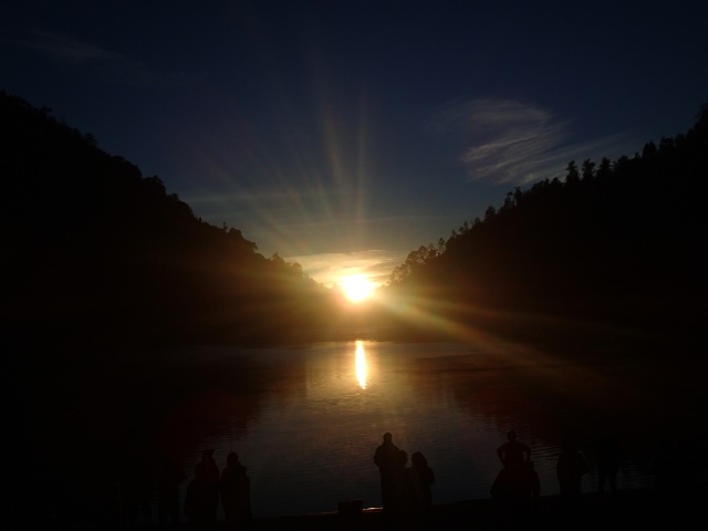 Sunrise view at Kalimati campsite
