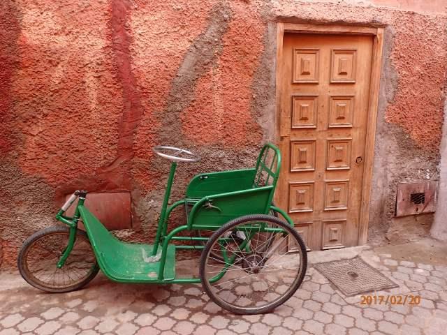 Simplicity of exists, Door in an alley in Marrakesh, Morocco, Feb 2017